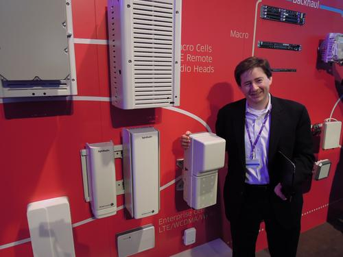 Alcatel-Lucent's Marcus Weldon, seen here at MWC 2013, loves his small radio access network elements with integrated WiFi.