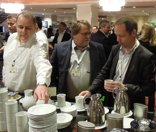 Coffee and mingling, two vital ingredients for any industry event.