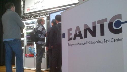 Independent test lab EANTC is commanding the show floor stage with its network functions virtualization (NFV) proof-of-concept showcase.