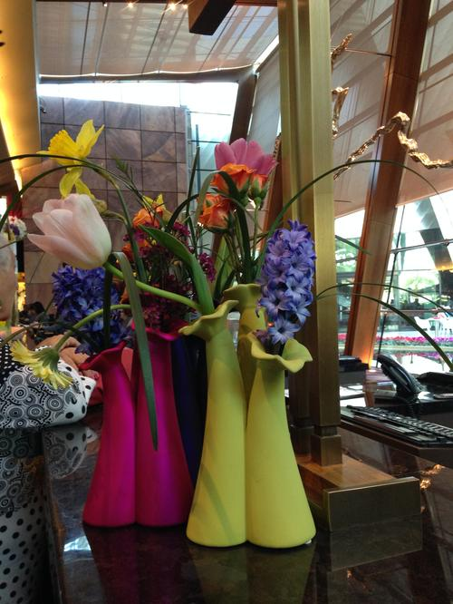 The Aria is four years old, but still feels new and fresh, like these blossoms.