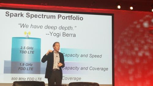 Having spectrum band options allows Sprint to offer a 4G pizza, 'with extra toppings,' Hesse explains.
