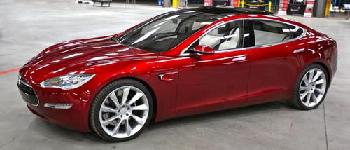 The Tesla S: It's electric, and very, very shiny.