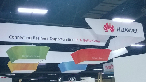 With $3.5 billion profits, you'd think Huawei could afford to hire a couple of English majors to proofread its booth signage. A friend snuck us this photo taken Monday, before the show floor opened; he says this mangled sign hovered above the Huawei booth more than one day prior to the show as vendors set up for the expo. Huawei finally fixed the sign just before the show floor opened. Hopefully, the person who wrote this sign isn't also creating Huawei equipment documentation.