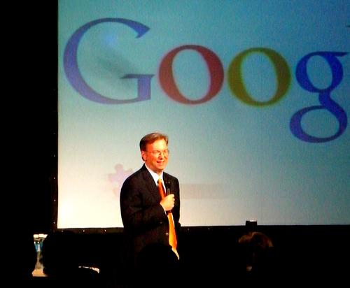 Google's Eric Schmidt: He's probably not on Mathias Dopfner's Christmas card list.