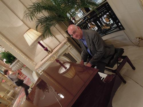 ONF executive director Dan Pitt tickles the ivories in the lobby of the Ritz Hotel in London during a recent visit to the UK.
