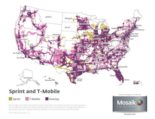 Sprint Amp T Mobile A Tale Of Two Maps Light Reading