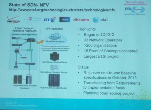 Cohn says the ETSI NFV open-source project will be a 'landmark group.'