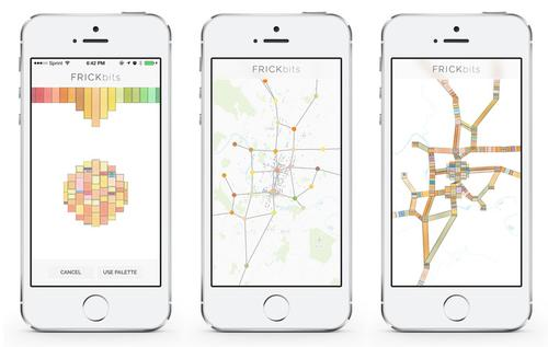 This free iPhone app, as featured on Kickstarter, is a work in progress by artist Laurie Frick. As the images show, Frick is creating an app that turns the location data on a user's iPhone into a visual rendering of his or her travel patterns. The 'pattern gathers richness and texture over time,' and touching the screen shifts the user back and forth from an actual map to the visualization of travel patterns. As the artist says, 'Take back your data and turn it into art.'