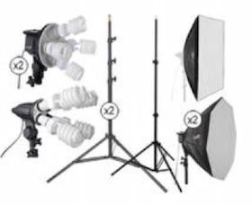 A studio fluorescent lighting kit (source: B & H Photo, Video, Pro Audio)