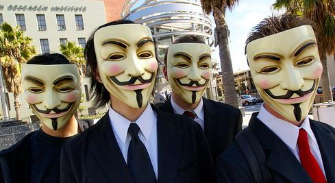 Anonymous protestors in 2008.(Source: Vincent Diamante via Flickr)