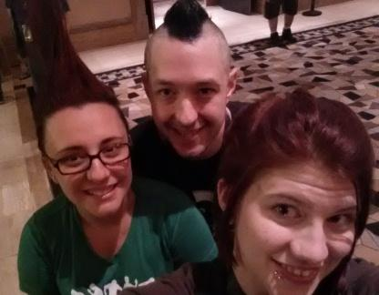 Kerstyn (bottom right) and her newfound friends from Black Hat & DefCon last year.