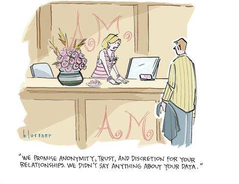 Cartoon: Dating (In)security