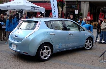 The all-electric Nissan Leaf.