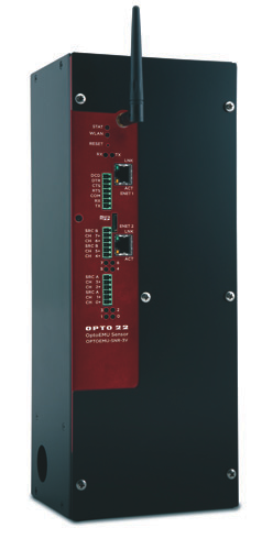 Opto 22 used its PAC automation technology and repackaged it to create the energy-monitoring appliance. The configuration is fixed with multiple inputs, no outputs, and can be mounted on a wall or panel.