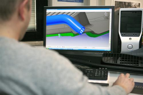Simulation paved the way for an in-mold assembly process.  Source: Rochling Automotive