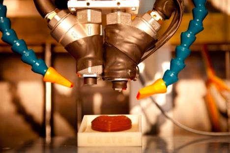 The University of Exeter, Brunel University, and Delcam are collaborating on a 3D printer that uses chocolate as the materials medium.
