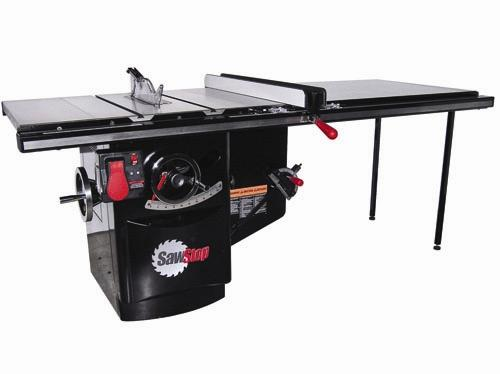 Stephen Gass's Sawstop system reportedly has saved more than a thousand fingers that have touched the saw blade.  Source: Sawstop LLC