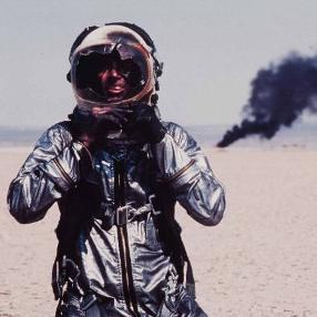 Sam Shepard as Chuck Yeager in The Right Stuff.