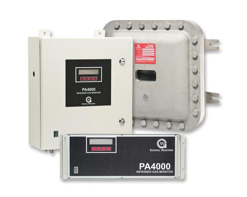 The PA4000 infrared gas monitor from General Monitors of Lake Forest, Calif.
