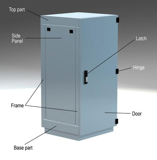 Typical design of an electronic enclosure.