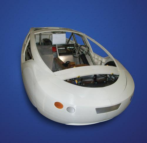 The body panels for the prototype Urbee were produced with 3D printers.