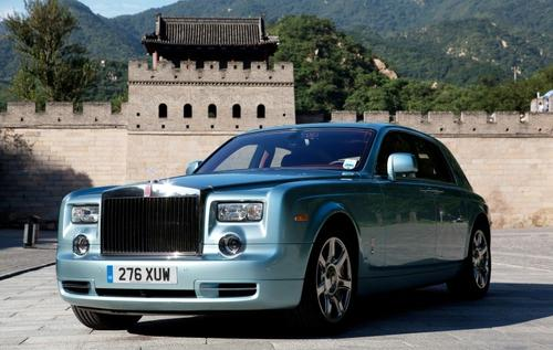 In tests, Rolls-Royce says the 102EX Phantom Experimental Electric is quiet and powerful, but possibly short on driving range.  Photo courtesy of Rolls-Royce.