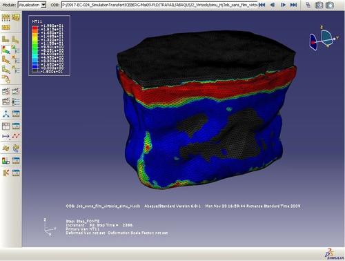 The team created a precise model of the tabular iceberg based  on real data collected on icebergs in the Newfoundland area, and  used Abaqus FEA from SIMULIA to evaluate the risk of fracture  for the iceberg in order to explore potential environmental impacts.