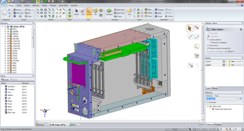By leveraging modern hardware capabilities, SpaceClaim Engineer 2011+ supports techniques like threaded feature recognition and multithreaded faceting to deliver a more interactive modeling experience.