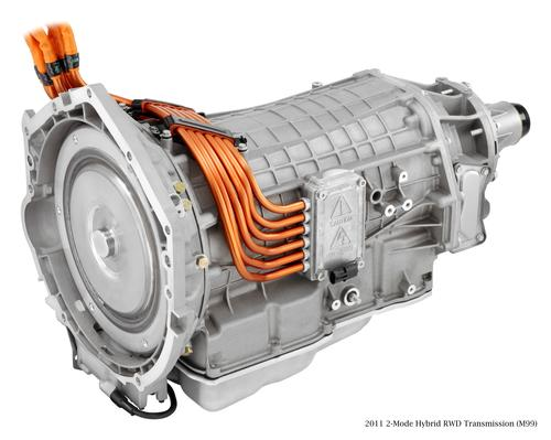 A similar collaboration between GM, Chrysler, Daimler, and BMW resulted in GM's 2-Mode Hybrid RWD Transmission. (Photo courtesy of GM.)