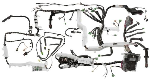 A complete vehicle wiring harness manufactured by Delphi.