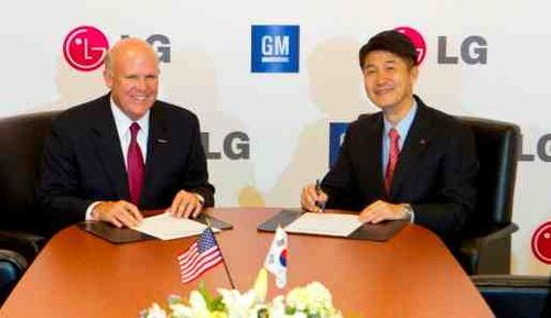 In August, General Motors and battery maker LG Chem signed an agreement to co-develop electric cars. (Photo courtesy of GM.)
