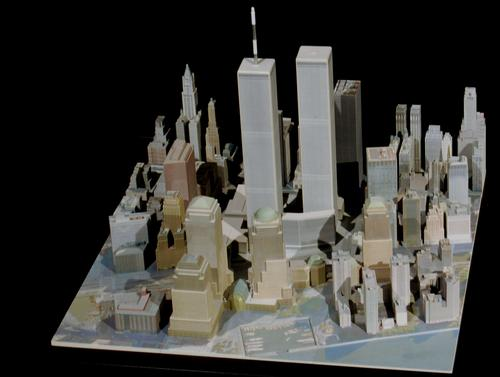 David Muson's detailed three-part model 'WTC Triptych,' created with ZCorp's ZPrinter, is now on display  at the New York City Fire Museum.