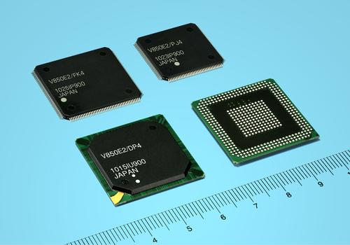 Renesas's automotive safety MCU line includes devices for chassis, dashboard, body, and car audio applications.  (Photo courtesy of Renesas Electronics)