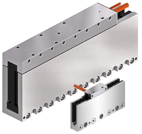 Rexroth MCL ironless linear motor offers positioning accuracy down to a few microns. (Photo courtesy of Bosch Rexroth AG.)