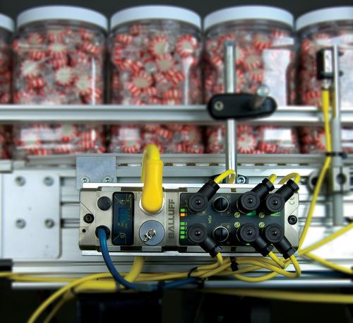 Balluff's distributed modular I/O deployed in a factory setting.