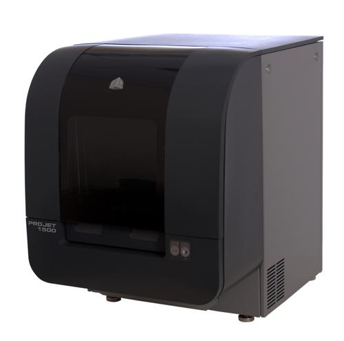 The ProJet 1500 features support for up to six colors along with the ability to print durable parts for a variety of functional testing and snap-fit applications.