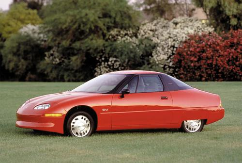 GM's EV1 still has the best drag coefficient of any production car to date, at 0.195.  (Photo courtesy of GM.)