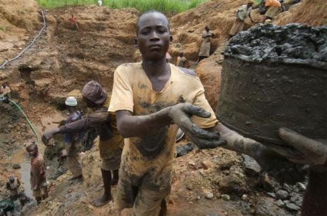 Mining of materials for electronics in the Congo is notorious for human rights abuses. 