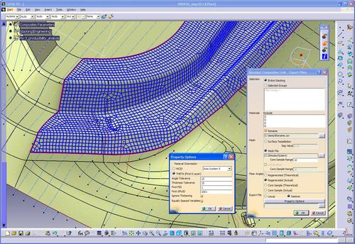 With Simulayt's Composites Link, engineers can transfer ply design models  to a variety of FEA environments, including Nastran offerings.