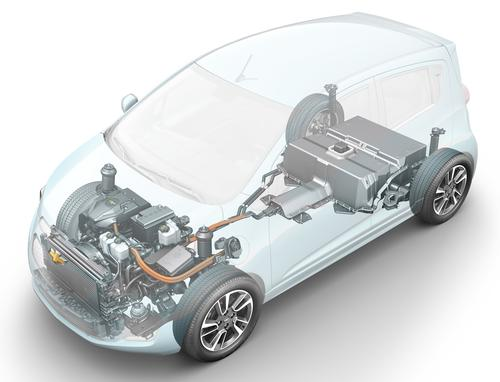 Chevy's Spark EV will be powered by a lithium-ion battery pack from A123 Systems.  (Figure courtesy of Chevrolet)
