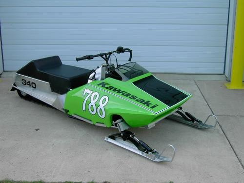 The 1980 Kawasaki 340 snowmobile loves to run full out, but it refuses to walk.