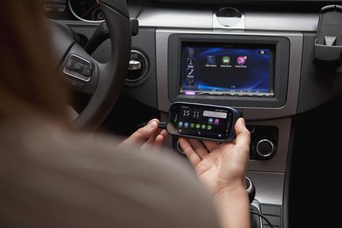 The desire to link smartphones to dashboard head units is becoming commonplace.  (Photo courtesy of Nokia, Car Connectivity Consortium)