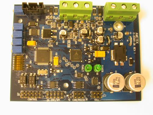 An Ametek motor controller. Many variables are considered when selecting controllers for BLDC motors.