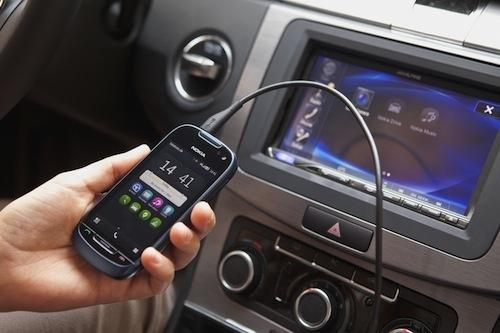 Nokia's Car Mode simplifies access to voice-guided car navigation, traffic updates, music, and voice calls 