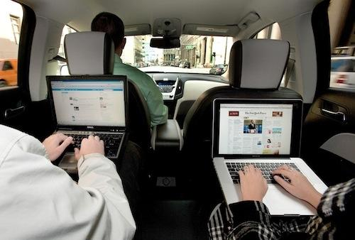 Autonet Mobile's router lets passengers check Facebook in the back seat while the car is moving.