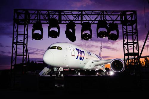 The first production Boeing 787 Dreamliner sits parked in Mukilteo, Wash., prior to its delivery to Japan's All Nippon Airlines in September 2011.