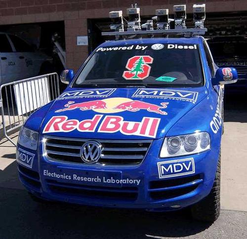 Stanford University's 'Stanley' won the 2005 Grand Challenge by finishing in six hours, 53 minutes. The Volkswagen Touareg R5 combined six laser range finders with a color camera, radar system, GPS system, and inertial navigation system. 