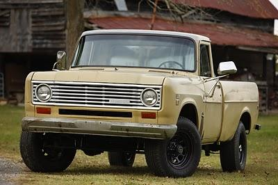 The 1975 IH pickup - it's in great shape but for a tiny manufacturing flaw.