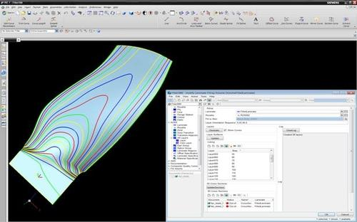 FiberSIM's volume fill composite ply development capability goes to work on a jet engine fan blade created in Siemens NX.