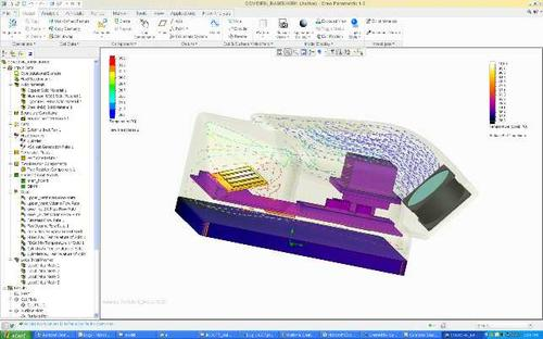 FloEFD from Mentor Graphics turns CFD analysis into a plug-in for CAD, allowing engineers to perform analysis functions easily within their familiar tool without having to learn a complex new program and with the ability to work directly on native geometry. 